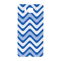 Background Of Blue Wavy Lines Samsung Galaxy Alpha Hardshell Back Case