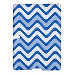 Background Of Blue Wavy Lines Samsung Galaxy Tab S (10.5 ) Hardshell Case
