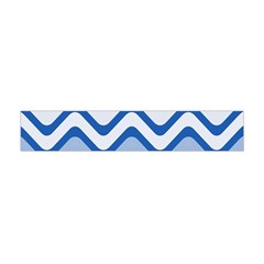 Background Of Blue Wavy Lines Flano Scarf (Mini)