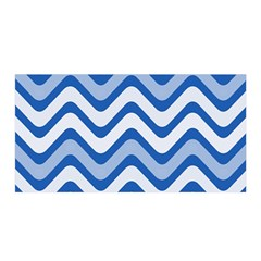 Background Of Blue Wavy Lines Satin Wrap