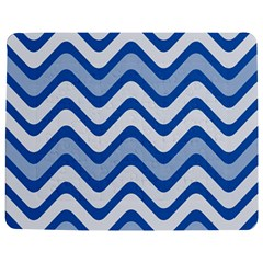 Background Of Blue Wavy Lines Jigsaw Puzzle Photo Stand (Rectangular)