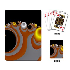 Classic Mandelbrot Dimpled Spheroids Playing Card