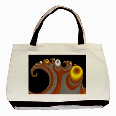Classic Mandelbrot Dimpled Spheroids Basic Tote Bag (two Sides)