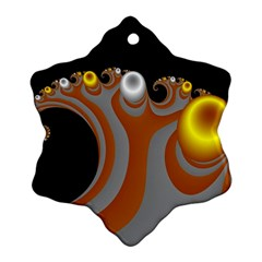 Classic Mandelbrot Dimpled Spheroids Snowflake Ornament (two Sides)