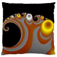 Classic Mandelbrot Dimpled Spheroids Large Cushion Case (One Side)