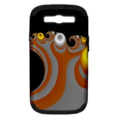 Classic Mandelbrot Dimpled Spheroids Samsung Galaxy S III Hardshell Case (PC+Silicone)