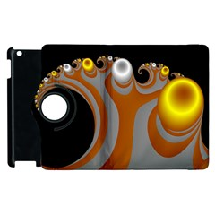 Classic Mandelbrot Dimpled Spheroids Apple iPad 2 Flip 360 Case