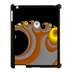 Classic Mandelbrot Dimpled Spheroids Apple iPad 3/4 Case (Black)