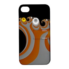 Classic Mandelbrot Dimpled Spheroids Apple iPhone 4/4S Hardshell Case with Stand