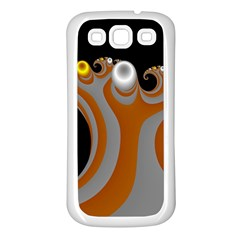 Classic Mandelbrot Dimpled Spheroids Samsung Galaxy S3 Back Case (White)