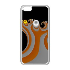 Classic Mandelbrot Dimpled Spheroids Apple iPhone 5C Seamless Case (White)