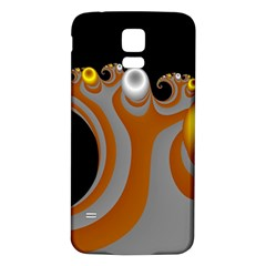 Classic Mandelbrot Dimpled Spheroids Samsung Galaxy S5 Back Case (White)