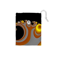 Classic Mandelbrot Dimpled Spheroids Drawstring Pouches (Small)