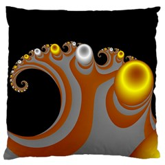 Classic Mandelbrot Dimpled Spheroids Large Flano Cushion Case (two Sides)