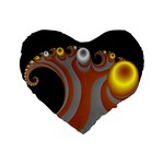 Classic Mandelbrot Dimpled Spheroids Standard 16  Premium Flano Heart Shape Cushions Front