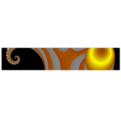 Classic Mandelbrot Dimpled Spheroids Flano Scarf (Large)