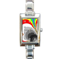 Background Image With Color Shapes Rectangle Italian Charm Watch