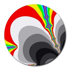 Background Image With Color Shapes Round Mousepads