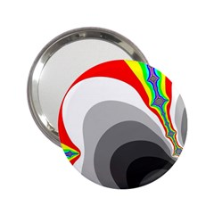 Background Image With Color Shapes 2.25  Handbag Mirrors