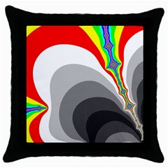 Background Image With Color Shapes Throw Pillow Case (Black)