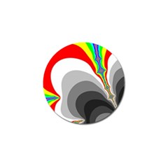 Background Image With Color Shapes Golf Ball Marker