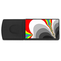 Background Image With Color Shapes USB Flash Drive Rectangular (1 GB)