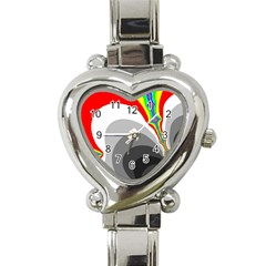Background Image With Color Shapes Heart Italian Charm Watch