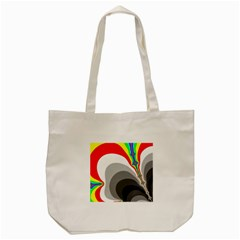 Background Image With Color Shapes Tote Bag (cream)