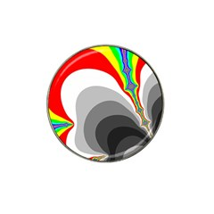 Background Image With Color Shapes Hat Clip Ball Marker