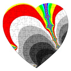 Background Image With Color Shapes Jigsaw Puzzle (heart)