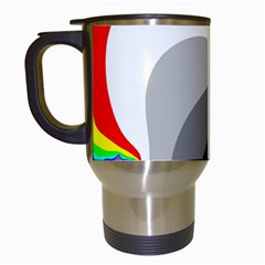 Background Image With Color Shapes Travel Mugs (White)