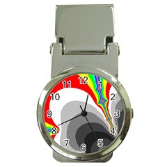 Background Image With Color Shapes Money Clip Watches