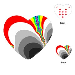 Background Image With Color Shapes Playing Cards (heart)