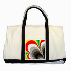 Background Image With Color Shapes Two Tone Tote Bag