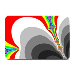 Background Image With Color Shapes Plate Mats