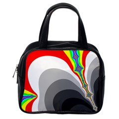 Background Image With Color Shapes Classic Handbags (one Side)