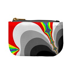 Background Image With Color Shapes Mini Coin Purses