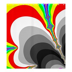 Background Image With Color Shapes Shower Curtain 66  X 72  (large)