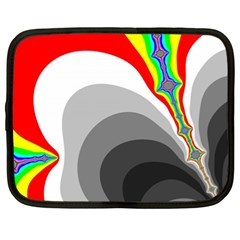Background Image With Color Shapes Netbook Case (xl)