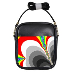 Background Image With Color Shapes Girls Sling Bags