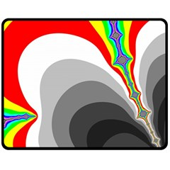 Background Image With Color Shapes Fleece Blanket (Medium)