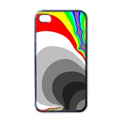 Background Image With Color Shapes Apple Iphone 4 Case (black)