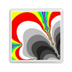 Background Image With Color Shapes Memory Card Reader (square)