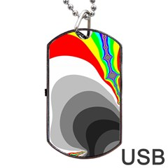 Background Image With Color Shapes Dog Tag USB Flash (One Side)