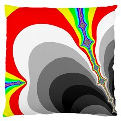 Background Image With Color Shapes Large Cushion Case (One Side)