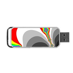 Background Image With Color Shapes Portable Usb Flash (two Sides)