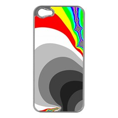 Background Image With Color Shapes Apple iPhone 5 Case (Silver)