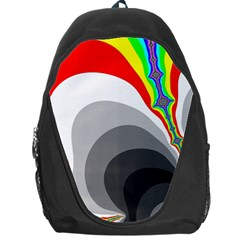 Background Image With Color Shapes Backpack Bag