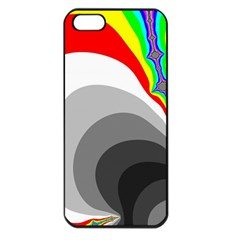 Background Image With Color Shapes Apple Iphone 5 Seamless Case (black)