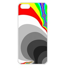 Background Image With Color Shapes Apple iPhone 5 Seamless Case (White)